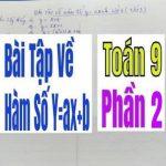 Bài Tập Về Hàm Số Y=ax+b Tiết 2