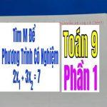 TÌM m ĐỂ PHƯƠNG TRÌNH CÓ NGHIỆM THỎA MÃ 2×1 + 3×2 = 7 – Phần 1