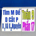 TÌM m ĐỂ ĐƯỜNG THẲNG d CẮT PARABOL P – Phần 17