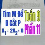 TÌM m ĐỂ ĐƯỜNG THẲNG d CẮT PARABOL P – Phần 11