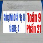 Chứng Minh d cắt p tại A,B và SOAB≥4