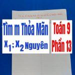 Tìm m để phương trình bậc 2 có nghiệm nguyên