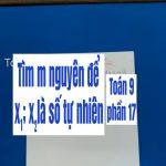 Bài tập về phương trình bậc 2 – tìm m nguyên để x1;x2 là số tự nhiên